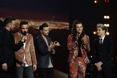 One Direction on stage at The X Factor Final (last big event before the break) - 12/13/15