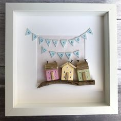 Items similar to Driftwood wall art of framed little wooden houses, house + love = home on Etsy Driftwood Wall Art, Driftwood Sculpture, Box Frame Art, Box Frames, Small Wooden House, Wooden Houses, Decor Crafts, Diy And Crafts, Recycled House
