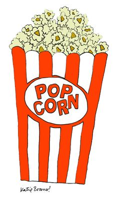 popcorn illustration by Katie Evans