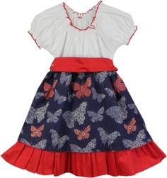 SSMITN Girl's Gathered Dress - Buy Red SSMITN Girl's Gathered Dress Online at Best Prices in India | Flipkart.com