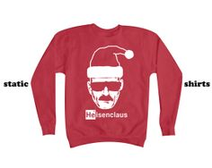 Heisenberg Santa Claus Sweatshirt | Breaking Bad Gift | Heisenberg Sweater on Etsy, $26.00
