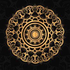 Banner Background Images, Vector Background, Flower Vintage, Vintage Floral, Mandala Pattern, Mandala Design, Wallpaper Ramadhan, Black Paper Drawing, Magic Design