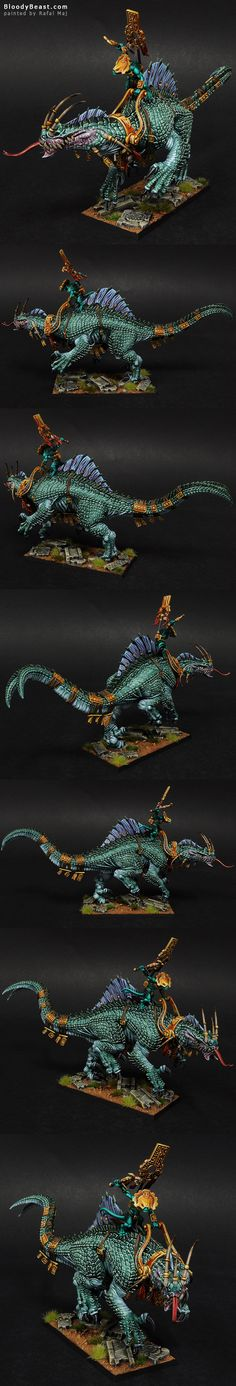 Lizardmen Troglodon painted by Rafal Maj (BloodyBeast.com)
