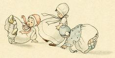 Old Design Shop ~ free digital image: bouncing babies Vintage Postcards, Vintage Images, Vintage Art, Vintage Pictures, Vintage Illustration, Illustration Children, Doll Drawing, Baby Clip Art, Free Graphics