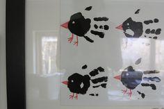vögel händeabdruck l Bird handprints