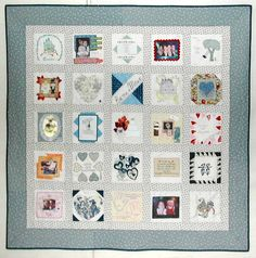 Wedding memory quilt. When I learn to quilt, this will happen!