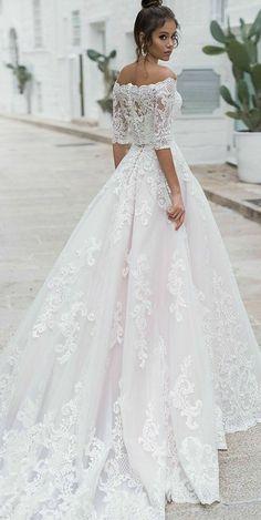 Boho Wedding Dress With Sleeves, Bhldn Wedding Dress, Princess Wedding Dresses, Modest Wedding Dresses, Bridal Dresses, Wedding Bride, Elegant Dresses, Sexy Dresses, Summer Dresses