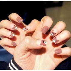 Sơn móng đẹp Kawaii Nail Art, Cute Nail Art, Love Nails, My Nails, Asian Nails, Pedicure Nail Art, Trendy Nails, Nail Arts, Beauty Nails