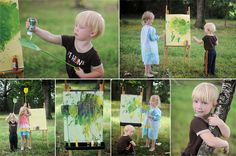 Painting with a fly swatter!