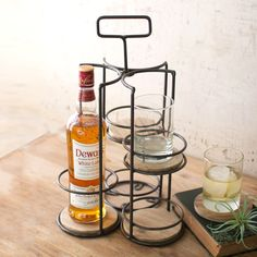 Whiskey and Highball Display Caddy