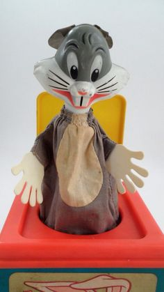 1978 Mattel Bugs Bunny Jack in the Box WORKS Plays Hail Hail the Gang's All Here