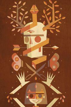 Mystic Sacrifice by Jorsh Pena Heart Illustration, Graphic Design Illustration, Graphic Design Typography, Lettering Design, Vector Design, Vector Art, Gillian Flynn, Illustrator Cs6, Game Art