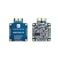 Matek Systems HUBOSD8-SE 9-27V PDB W/ STOSD8-SE 5V&10V Dual BEC For RC Multirotors                Specification: Brand: Matek Systems Input: 9-27V(3-6s Lipo) Input TVS protection PDB: 4 X 30A( Max.4x46A) BEC 5V 1.5A(2A Max.) BEC 10V 1.5A(2A Max.) Current Sensor 184A Built-in STOSD8-SE Size:...