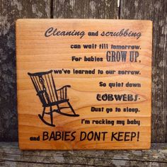 Babies Don't Keep - Adorable Wooden Quote Sign Great for Nursery or Baby's Room!