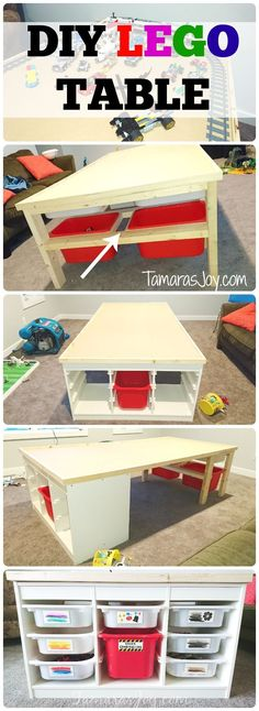 DIY Lego Table, Ikea Hack! http://tamarasjoy.com