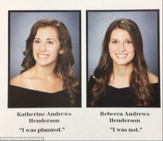 Only one of these twins was expected, but Rebecca seems to take it in good spirits