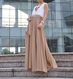 20ca3beb2795 High Waist Maxi Skirt Chiffon Silk Skirts Beautiful Bow Tie Kleider,  Seidenrock, Einfacher Stil