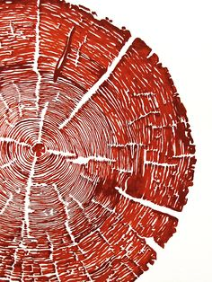 Original hand drawn tree ring fine art by YEARWITHOUTASUMMER, $125.00