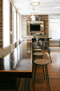 bar with lathe walls