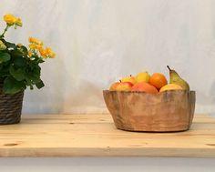 Obstkorb, Krug 20 cm x 20 cm x 15 cm aus Schwemmholz und Steinen, 2017 Serving Bowls, Tableware, Objects, Sculptures, Handmade, Dinnerware, Tablewares, Dishes, Place Settings