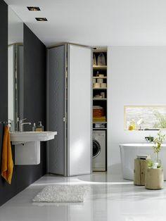 Falttür im Badezimmer