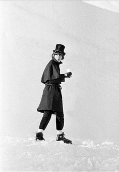 George Harrison on the set of Help! in the Alps, 1965