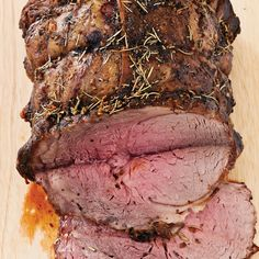 Herbed Boneless Beef Ribeye Roast - had this at Judy's for Christmas - so good!!!