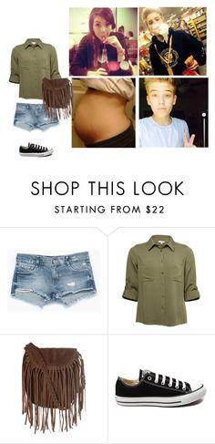 """""""Shopping with this cutie// Brooklyn"""" by rossetti-family-anon ❤ liked on Polyvore featuring Zara, Glamorous and Converse"""
