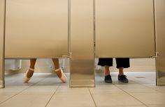 NYC. Left toilet smells better at Time Warner Center // Marielis Garcia in Jordan Matter's  book: Dancers Among Us