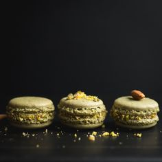#pistachio #macarons Pistachio Macarons, Food Photography, Cheesecake, Sweets, Photo And Video, Desserts, Instagram, Deserts, Good Stocking Stuffers