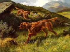 Irish Setters Lords of the Glen ~ Dogs ~ Counted Cross Stitch Pattern #StoneyKnobFarmHeirlooms #CountedCrossStitch