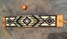 Bohème amérindien Delica verre bleu et brun par Traceysbeading