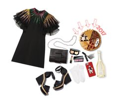 Blessings are everywhere. Take time to enjoy them.   #seebuywear #ootd #newchic #newyear #partydress #partylook #countdownparty #2017 #nightout #getthelook #flatlay #whatiwore #lookforless #polyvoreset   Happy New Year by jesuisfoufou on Polyvore featuring Gucci, Wolford, Bobbi Brown Cosmetics, Pierre Hardy, MM6 Maison Margiela and OPTIONS