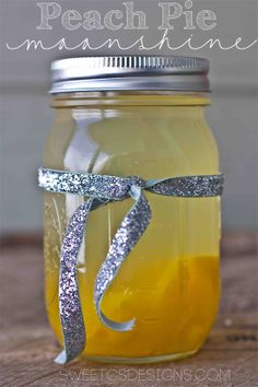 Peach Pie Moonshine - this is SO delicious and makes a great gift. Awesome with iced tea.