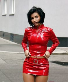 Sexy Rock, Vinyl Clothing, Micro Skirt, Little Red Dress, Latex Dress, Just Girl Things, Nice Things, Sexy Latex, Vinyls