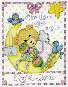 Moon Baby Sampler Cross Stitch Kit by Design Works