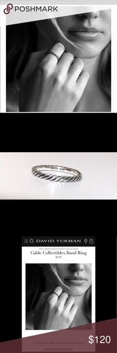 David Yurman Cable Band - EXCELLENT LIKE NEW- MINT David Yurman Cable Band - EXCELLENT LIKE NEW- MINT Professionally polished- NO SIGNS OF WEAR!! PERFECT! 100% authentic! Buy with confidence. I am a Posh Ambassador. David Yurman Jewelry Rings