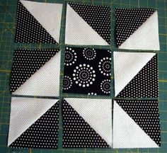 Crafty Gemini: black and white Quilt along series