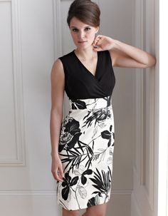 LOVE this dress. Monochrome Floral Print Dress by Pepperberry