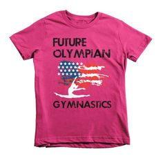 Future Olympian - American Gymnast - 2yrs - 12yrs - Short Sleeves Kids