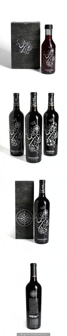 Sea Legs fun wine packaging PD