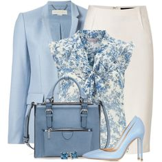 I Got the Blues! by brendariley-1 on Polyvore featuring polyvore, moda, style, Dorothy Perkins, STELLA McCARTNEY, Donna Karan, Gianvito Rossi, Zara and Carolee