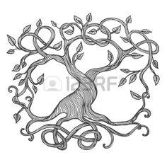 Arbre De La Vie Celtique, Illustration D'Yggdrasil Clip Art Libres De…