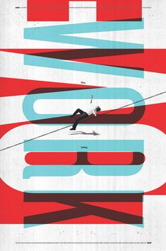 juxtaposition with type red & light blue overlay collage image interacting w/type
