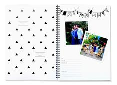 Blueberry Co Monochrome Baby Book //Modern Baby Memory Book - unisex, monochrome Baby journal // baby memory journal // family tree // family history // colouring in // neutral baby memory book // pregnancy journal // first year book // baby memory book diy // scrapbook www.blueberryco.com.au