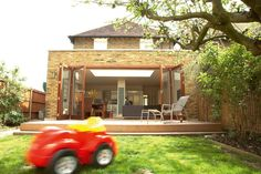 Adding a light-filled single storey rear extension to a detached house to create a large family kitchen/dining/living room, plus a utility room and WC. The project cost £100,000