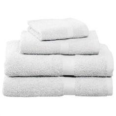 White Four-Piece Cotton Towel Set  $19.95