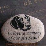 engraved pet memorial river rock
