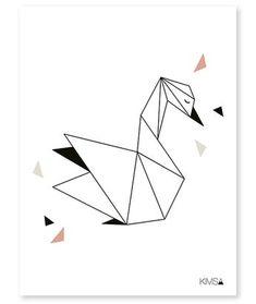 Animales Hechos Con Figuras Geométricas Colibrí Esta Hecho Con