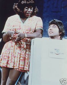 """Comedian Flip Wilson as """"Geraldine,"""" shown here in a skit with football player Joe Namath. This is a really funny skit! """"In the booth.In the corner.In the dark! Flip Wilson, Joe Namath, Great Comedies, Old Tv Shows, Vintage Tv, Celebs, Celebrities, The Good Old Days, Childhood Memories"""